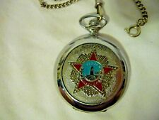 WWII Marina Soviet Russia Pocket Watch Working NICE!