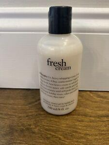 Philosophy FRESH CREAM Shampoo Shower Gel & Bubble Bath 8oz