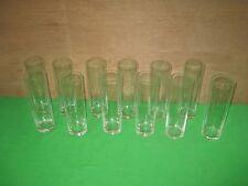 "Vintage Set of Twelve (12) Clear 7"" Tall Glasses Etched Designs"