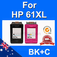 2x Ink for HP 61XL Envy 4500 4504 5530 Printer High Yield Inkjet Cartridges ER