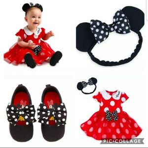 Disney Minnie Mouse Halloween Costume  Dress Shoe Red Toddler Baby  Size 12-18 m