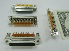 4 New Female D-Sub to Pcb Connectors, Db-25 25 Gold Plated Pins, 56-124-005-3-Gl