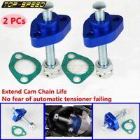 2X Blue Manual Cam Chain Adjuster Tensioner For Honda SuperHawk VTR1000 VTR1000F