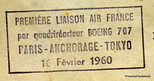 1960 BOEING 707 PARIS ANCHORAGE TOKYO  Airmail Aviation premier vol AC03