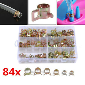 84x Motorcycle Oil Fuel Pipe Line Hose Clamp Water Tube Retaining Clip 6 Sizes