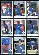 1989 Upper Deck Kansas City Royals Team Set (29 cards) Brett, Bo, Saberhagan