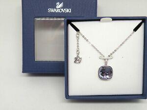 "Authentic Swarovski ""SS DOT""  Crystal Pendant  Pave TANZ  Rhodium New in Box"