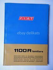 FIAT 1100 R Familiare CATALOGO ricambi 1968 2 ed