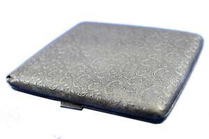 Vintage Nickel-Silver Cigarette Case business card holder Collectible. G76-15 US