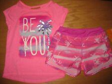 NWT Gymboree Gymgo 5-6 Set Pink Be You Shirt Palm Tree Active Shorts