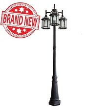 Portfolio Outdoor Lamp Post Light Fixture - 3 Lights Lantern with post 78.2-in