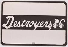 Authentic Silk Backstage Pass George Thorogood Destroyers 1987 Concert Tour OTTO