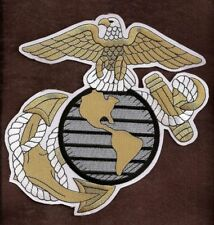 MILITARY PATCH  U.S. Marine Corps  Emblem Jacket Size Profiled Patch Exceptional
