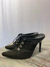 Dior black Canvas Mules, Size 6