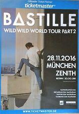 BASTILLE  2016 MÜNCHEN   ++ orig.Concert Poster - Plakat 118x84 cm XX
