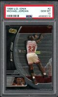 1998-99 Upper Deck Ionix #2 Michael Jordan Chicago Bulls HOF PSA 10 GEM MINT