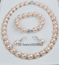 natural southsea shell Orb pearl 12 MM  pink shell necklace bracelet earring