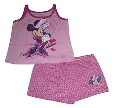 Ladies Pyjamas Disney Minnie Mouse Short Set XL