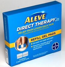 2 Pairs of Refill Gel Pads For ALEVE Direct Therapy Tens Device Lower Back Pain