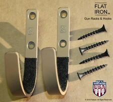 FLATIRON™   Tan - Wall Mount Gun Rack Hooks Shotgun Bow Rifle Sword Hangers