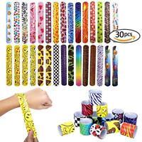 Scoolr 30pcs Slap Bands Slap Bracelets Party Bag Fillers for Kids Snap Bands Par