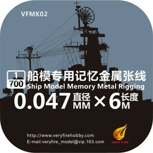Very Fire 1/700 Metal Wire For Ship Model (0.047mm, 6m) VFMK02