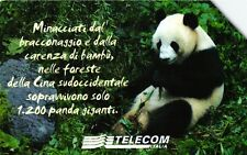 G 1413 C&C 3534 SCHEDA TELEFONICA USATA ANIMALI PANDA