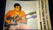 Catalogo chitarre Hollywood Meazzi basso batteria 1964 R Adriano Celentano Gaber