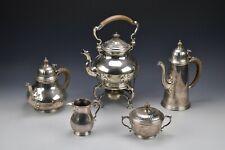 5 Piece Tiffany & Co. English Sterling Silver Tea Coffee Set 149.9 Troy Oz.