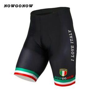 Men Cycling Shorts Italian National Team Black Sportwear Bike Wear