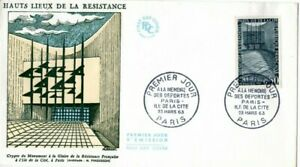 1381+ FDC  ENVELOPPE 1er JOUR HAUTS LIEUX DE LA RESISTANCE  ILE DE LA CITE
