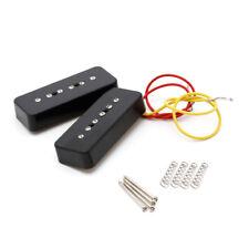 1 Set Soap Bar Pickups for LP P90 Electric Guitar Facilitated Installation Black
