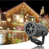 Navidad Exterior Copo de Nieve Láser Led Paisaje Luz Jardín Vacaciones Proyector