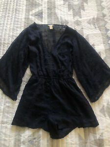 Womens Forever 21 Navy Playsuit Xs