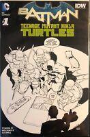 BATMAN TEENAGE MUTANT NINJA TURTLES #1 DRAGOTTA PLANET COMICS B&W VARIANT NM