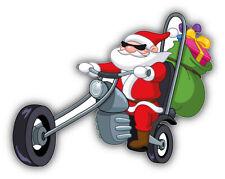 "Cartoon Funny Santa Biker Christmas Gifts Car Bumper Sticker Decal  - ''SIZES"""