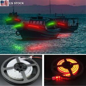 9.8' LED Boat Navigation Light Kits for Marine Boat Vessel Pontoon Yacht Skeeter