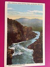 1953 Pathfinder Canon Between Casper & Rawlins Wyoming WY Postcard ID#688