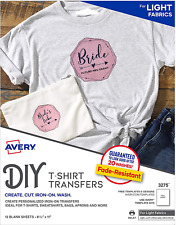 Avery Printable Heat Transfer Paper For Light Fabrics Diy T Shirt 85 X 11