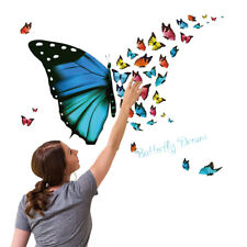 Colorful Butterfly Wall Sticker Removable Decals Art Living Room Home Decors NEW