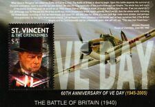 WWII Winston Churchill/Hawker Hurricane/Battle of Britain/VE-Day Stamp Sheet M/S
