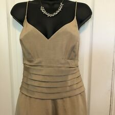 Nicole Miller Champagne Long Formal Dress 14 Brand New Wedding Bridesmaid