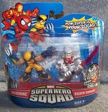 SUPER HERO SQUAD 2009 MARVEL WOLVERINE & SILVER SAMUARI SET