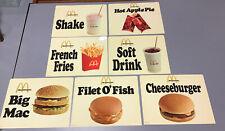 Vintage Rare McDonald's Lot Of 7 Menu Item Display Signs Plastic 11 X 8.5