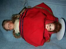 RARE~TOPSY TURVY~Antique German Bisque Heubach Doll~1 Side Pouty Character 7345