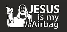 Jesús Es Mi Airbag VW Vag Euro Vinilo Calcomanía Adhesivo Pegatina Patineta Skate Bmx