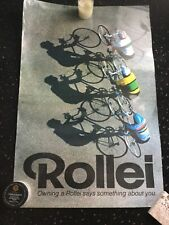 VINTAGE ROLLEI CAMERA CYCLISTS RACING POSTER