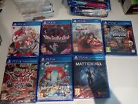 lot jeux ps4 ps 4 blazblue danganronpa matterfall world of warriors samurai neuf