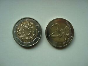 Latvia 2 euro 2015 30 Years of the EU Flag UNC from bank roll