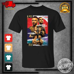 Men's UFC 266 Event Boxing 2021 Black T-Shirt For Fan